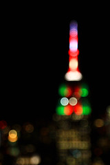 Empire State Building in its Christmas Colours (ej.hindle) Tags: night lights empirestatebuilding christmas newyork manhattan rockefellercentre city