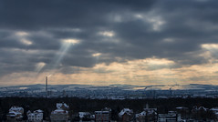 The heat is on ... (Marcus Rahm) Tags: winter schnee snow clouds cloudy bewölkt city cityscape panorama pano dresden sachsen saxony deutschland germany europa europe sun sunrays