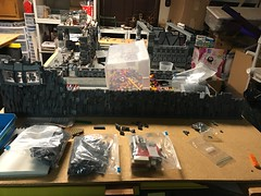 Starkiller base mountain wip (Carson Tate) Tags: first firstorder lego fighter tie bay hanger mountain moc wip base starkiller stormtrooper