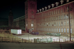 (patrickjoust) Tags: taftville connecticut ponemahmills mill fujicagw690 kodakportra160 6x9 medium format 120 rangefinder 90mm f35 fujinon lens c41 color negative film manual focus analog mechanical patrick joust patrickjoust usa us united states north america estados unidos autaut ct night after dark cable release tripod long exposure town tower
