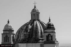 Santa Margherita (frillicca) Tags: 2016 agosto august bn bw basilica belltower biancoenero blackandwhite campanile carlofontana cathedral chiesa church cupola dome lazio montefiasconevt nikkor nikkor18300mmf35 nikon nikond300 santamargherita tuscia