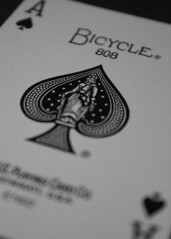 Ace of Spades (k.w.b.) Tags: card playingcard ace spades bicycle blackandwhite bw gambling games poker blackjack photo365 3652017 365challenge project365