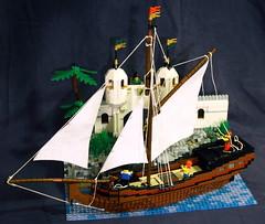 Birds eye (Beorthan) Tags: bobs yacht montoya victoriaisland lego