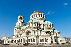 AFS-170005 (Alex Segre) Tags: bluesky sunny sunshine exterior exteriors outside capital city cities scene scenes scenic historical building buildings architecture famous landmark landmarks alexandernevsky orthodox cathedral cathedrals sofia bulgaria bulgarian easterneurope easterneuropean nobody in a alexsegre