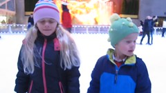 Interviewing The Kids On The Rockefeller Center Ice Rink (Joe Shlabotnik) Tags: 2016 blurry canonpowershots95 december2016 everett iceskating interview manhattan newyorkcity nyc rockefellercenter skating video violet