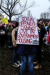 Sex Offender (sarahepuleo) Tags: womensmarch women march protest protesters washingtondc trump equality humanity revolution photojournalism sexualoffenders governmenthousing whitehouse government sign