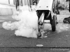 bw-3970 (Elliot Sampford) Tags: lincoln streetphotography steamcleaner chewinggum pavement cleaning litter