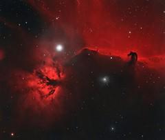 NGC2024, IC434 and Bernard 33 (Julian Hancock) Tags: ngc2024 ic434 astroimage bernard 33 ha oiii william optics astronomy qsi refractor eq6 astrodon astrometrydotnet:id=nova1943335 astrometrydotnet:status=solved