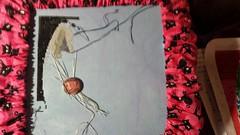 WIP 5/18/2014 (junkieforyourlove) Tags: crossstitch serenitydesigns jackskellington jackskellingtonsal nightmarebeforechristmas silkweaverfabrics
