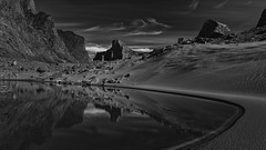 Lunar Oasis (Andrew G Robertson) Tags: baffin island nuna nunavut auyuittuq national park canada windy lake thor refl reflection