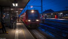 Arriving Train (Molin2010) Tags: denmark hellerup trainstation train evening