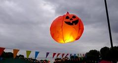 The Great Floating Pumpkin (foilman) Tags: pumpkin lantern flying floating glowing