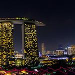 Marina Bay Sands vue des Garden By The Bay - Singapour thumbnail