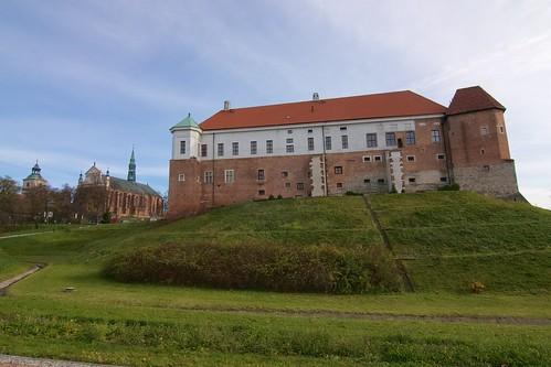 Wzgórze Katedralne i Zamkowe od zachodu