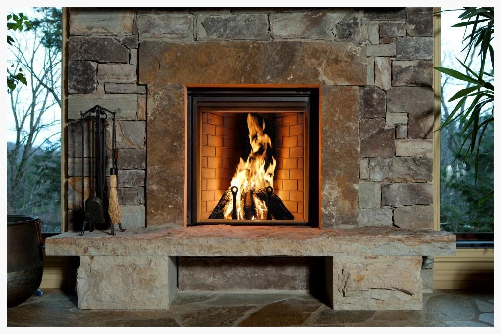 Renaissance Rumford Fireplace with refractory panels