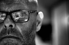 Always read the small print ! (CJS*64) Tags: bw monochrome mono glasses blackwhite nikon specs nikkor dslr 50mmf18d smallprint whiteblack nikkorlens 50mmf18lens 50mmnikkorlens d7000 nikond7000