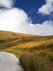 Strada e nuvole * Street and clouds (Anteriorechiuso Santi Diego) Tags: street sun mountain piedmont sampeyre
