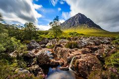 Buachaille Etive Mor - Stob Dearg with the Lee Big Stopper (capturedcanvas.co.uk) Tags: blue trees mountain lake blur green water clouds canon river lens scotland highlands big stream angle pyramid 5 wide glen canvas filter lee loch capture filters moor mor coe stopper lightroom etive 6d 1740l rannoch stob beag buchaille buachailleetivemòr