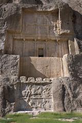 Ancient rock art (tmeallen) Tags: ancient iran tombs achaemenid marvdasht limestonecliffs dariusi naqsherostam sassanidbasreliefs bahranii