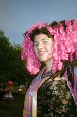 (Pheral Lamb) Tags: portrait film fashion festival vertical yard fuji lawn wig pointandshoot goldenlight reala100 yashicat2 bushwig tillyandwilliam jessicalapidos bushwig2015