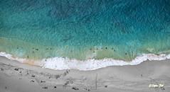 Ocean Brings Life (Stephen Ball Photography) Tags: ocean sea seascape beach water canon hawaii seaside waves oahu wave helicopter seashore overhead colorsplash hawaiikai sandys arial sandybeach shorebreak beachbreak hawaiianislands canon24105mm stephenball canoneos5dmarkiii stephenballphotography canon5dmkiii5d wwwstephenballphotocom stephenballphoto