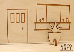Sneak Peek (thea superstarr) Tags: wood kits bigfoot midcenturymodern madeinusa lasercut laserengraved 6by6arts