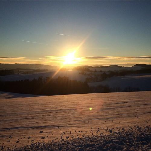 #sunset #snow #austria #sky #sunny
