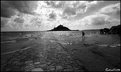St Michael's Mount Explore! (Coolcats100) Tags: sea sky blackandwhite white black monochrome st canon landscape for cornwall you tide sigma september mount explore thank your comments michaels 2015 canon650d coolcats100