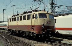 113 311  Nrnberg  25.06.94 (w. + h. brutzer) Tags: analog train germany deutschland nikon 110 eisenbahn railway zug trains db locomotive 112 nrnberg 113 lokomotive e10 elok eisenbahnen eloks webru