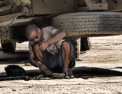 What's Next ? (Beegee49) Tags: city broken wheel truck parts philippines lorry repair driver bacolod squatting