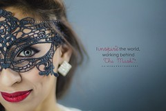 The lady with the mask (Zaina.Faraola) Tags: red portrait lady canon photography shoot mask lace kuwait 60d