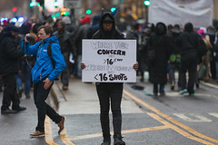 Protest on the Mag Mile - 2015 (SauceyJack) Tags: november chicago news black fall sign blackfriday death march illinois downtown shot loop protest photojournalism documentary police il story document lives michiganavenue journalism mcdonald protestors matter photojournalist magnificentmile protestor newsstory magmile policeofficer 2015 magmilemarch laquan canon1dx 7020028isiil sauceyjack laquanmcdonald