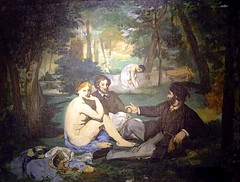 Manet - Le Djeuner sur l'herbe (The Luncheon on the Grass) (Snapshooter46) Tags: people london french artist outdoor somersethouse impressionism oilpainting realism ledjeunersurlherbe courtauldgallery theluncheononthegrass douardmanet