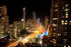 Sickness in motion (troyshiels73) Tags: city urban skyline architecture night skyscraper nikon kitlens australia rides nightlife amusements goldcoast d40 buildingcomplex