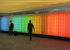 rainbow glass blocks at IAD (Abby flat-coat) Tags: glass colors airport iad rainbow blocks elph300hs img8388strtcrop