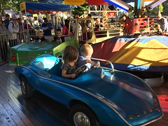 """Paul and Inde Ride in a Car at Sonny Acres • <a style=""""font-size:0.8em;"""" href=""""http://www.flickr.com/photos/109120354@N07/23224654475/"""" target=""""_blank"""">View on Flickr</a>"""