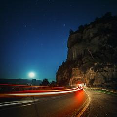 Montserrat, 6D. (William Kee) Tags: barcelona light sunset bus car night canon spain europe long exposure traffic desert outdoor tail hills trail montserrat catalan 6d catalonian