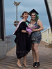 Sisters 3 (C & R Driver-Burgess) Tags: pink sisters graduation mortarboard crescent heels hood bouquet robes pavers pou hemispheres trencher