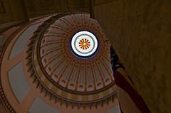 Skylight (ramseybuckeye) Tags: columbus ohio art square pentax flag skylight capitol dome statehouse