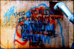 Urban Wisdom Two (Groovyal) Tags: two urban art wall photography paint grafitti illegal spraypaint wisdom groovyal urbanwisdomtwo