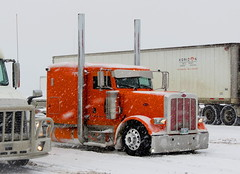 Arctic Fox (jr-transport) Tags: orange snow style custom peterbilt 389 largecar 379