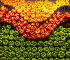 Peppers (tubblesnap) Tags: usa america silver wedding anniversary holiday fuji xs1 red yellow green pepper vegetables safeway supermarket display south lake tahoe