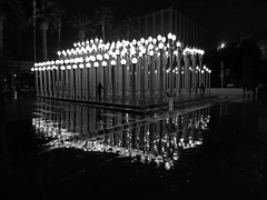LACMA on a rainy evening (3368) (Ron of the Desert) Tags: lacma museum losangelescountymuseumofart night rain lights streetlights losangeles california