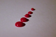 Red drops (SaYuMi-87) Tags: red reddrops ink liquitex liquify rosso gocce goccerosse inarow redux sequence sequenza progressive progressivo macro macromondays today instantphoto experiment