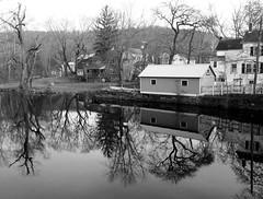 Califon reflections (pilechko) Tags: califon village town nj blackandwhite monochrome reflections river southbranch