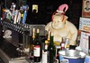 Tin Roof Bar - Dec 27, 2016 (Jeffxx) Tags: san diego gaslamp 2016 bar tin roof beer taps wine bottles sumo wrestler figurine statue elf bv coastal buddha