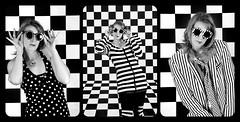 black & white (Laurent Delfraissy Photographie) Tags: bnw bw blackandwhite laurentdelfraissy canon5diii canon 5diii studio vintage portrait triptyque damier conceptual art visualart