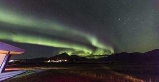 Aurora over Seljavellir