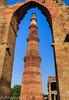 Qutub Minar Between Arch (taharaja) Tags: agra agrafort babytaj bazaar delhi delhimasjid fatehpursikri india indiagate jamimasjid minaret olddelhi oldmarket qutubminar redfort tajmahal tower
