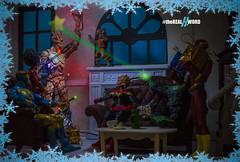 A Christmas Story (Lyarks) Tags: avengers comic dccomics dcvsmarvel hero heroes jla justice league legends lyarks marvel marvellegends mcu photo photography shield starks superdayoff superhero will zatanna captain captainmarvel caroldanvers carol danvers misty knight booster gold flash green lantern gaurdians galaxy rocket groot baby tree christmas xmas lighting ceremony star hal jordan super for hire defenders toy toys